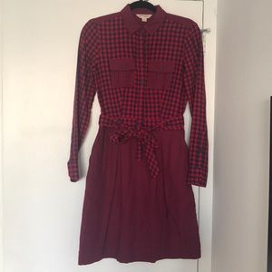 Brooks brothers red fleece dress